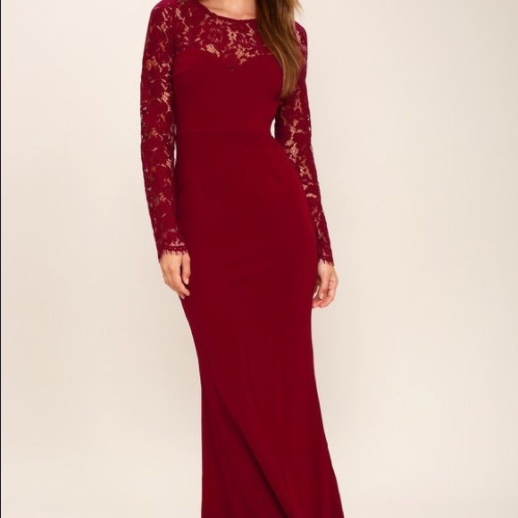 a11cb06881 Lulus Wine Red Lace Maxi Dress